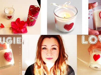 "❣✄ DIY, bougie LOVE ""Déco, custo saint valentin"""
