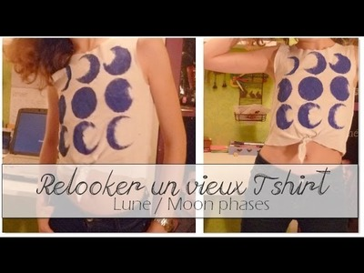 [DIY] Customiser un vieux T shirt - Lune. Upcycle Old T-shirt - Moon phases tank
