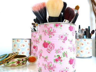 DIY : Recycler Vos Boîtes de Conserve - Rangement Make up - Make up storage