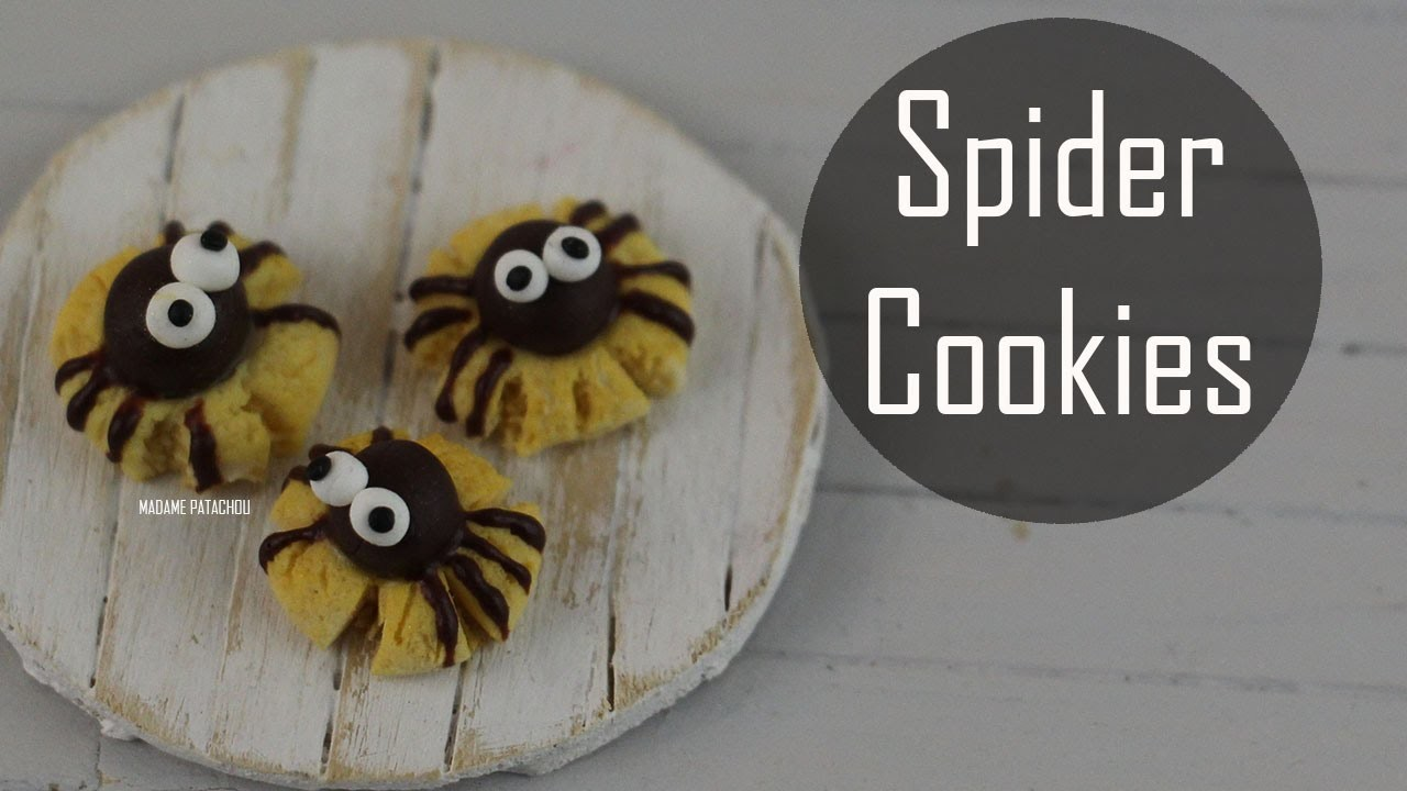 Halloween: Spider Cookies (Pâte Polymère).