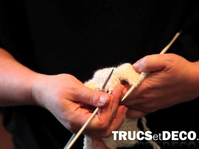 Maille torsadée en tricot - Tutoriel par trucsetdeco.com