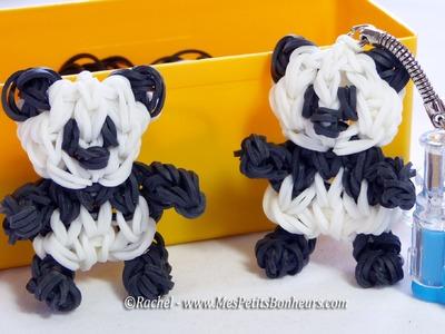 Panda en élastiques Rainbow Loom - Tuto de niveau avancé