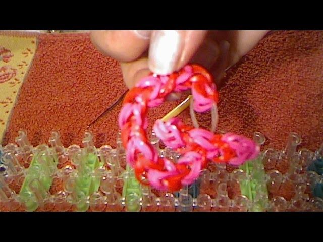 Rainbow loom francais lettre G ( loom band )