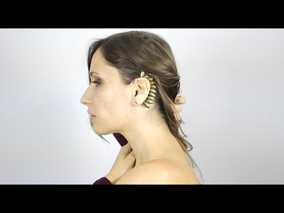 DIY : Manchette d'oreille - Wing EarCuff (english subs)