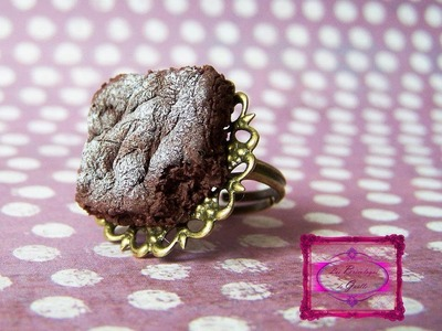 Tuto Fimo : Brownie facile - Easy polymer Brownie tutorial