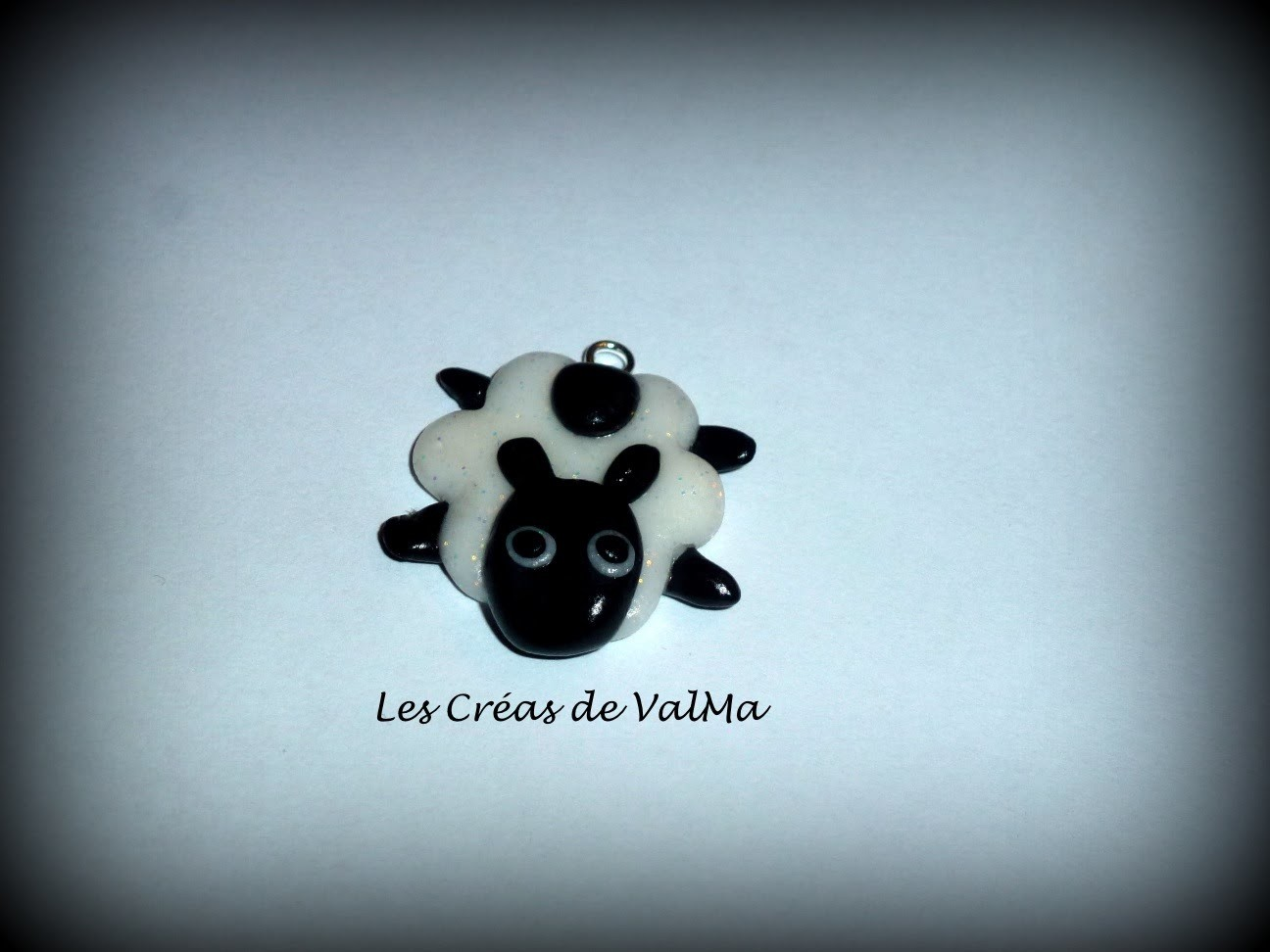 Tuto Fimo Mouton noir.Polymer clay Tutorial