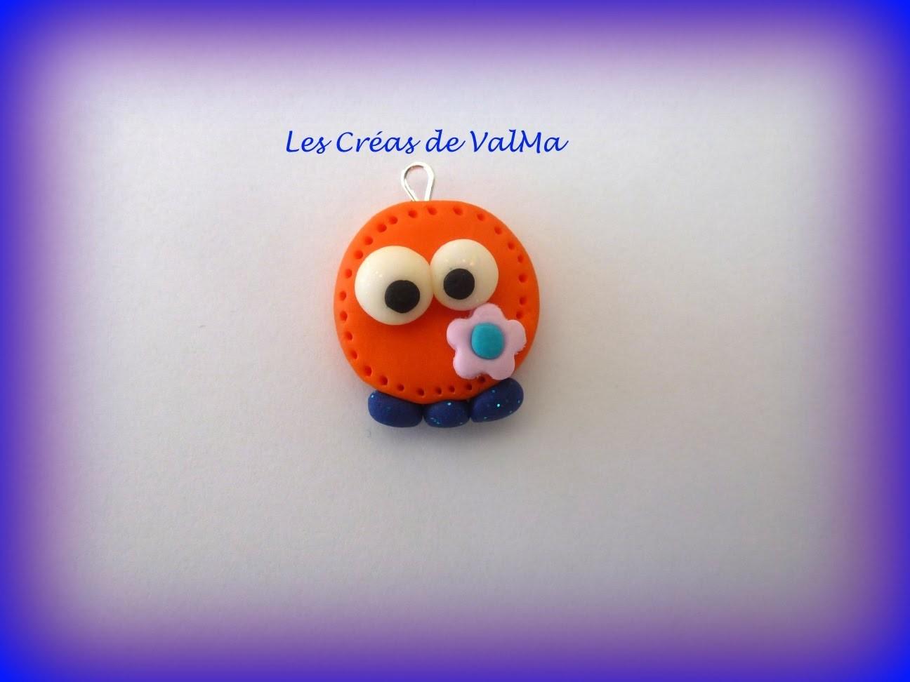 Tuto Fimo petit bonhomme orange.Polymer clay Tutorial