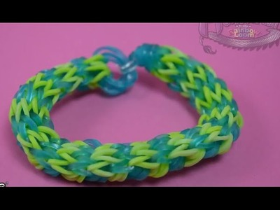 Tutoriel Monster Tail de Rainbow Loom : Bracelet design Ananas