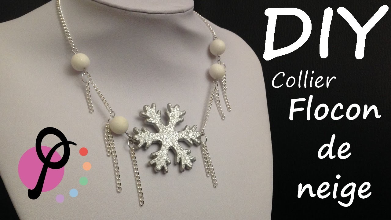 DIY #5 - Collier Flocon de neige [PimPomPerles.fr]. Snowflake necklace