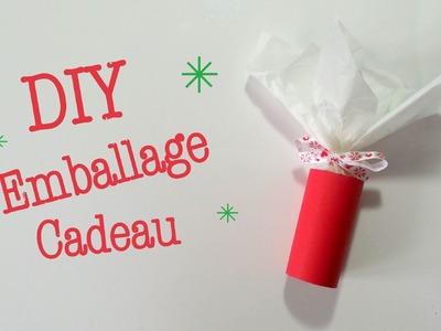 DIY Noel Emballage Cadeau avec rouleau en carton