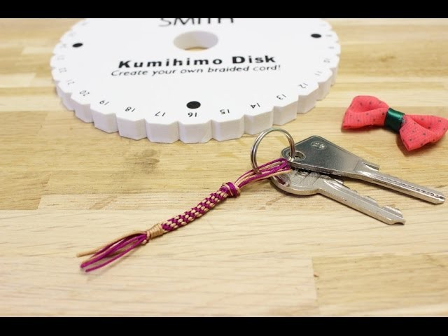 Perles & Co - Tuto DIY porte-clefs en tressage Kumihimo