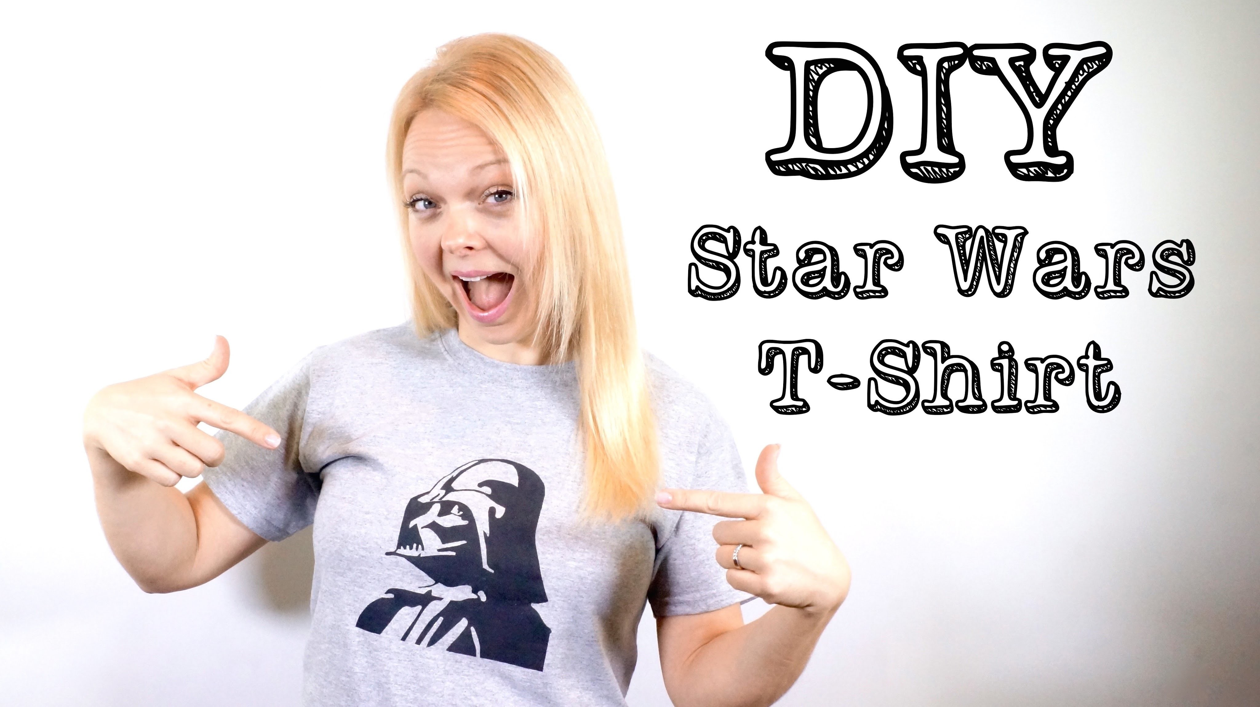 DIY Darth Vader. Star Wars T-shirt
