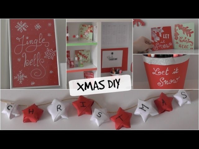 DIY xmas room decor