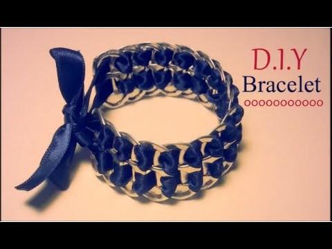 Création D I Y Le bracelet capsules de canettes et ruban youtube original HQ 2014