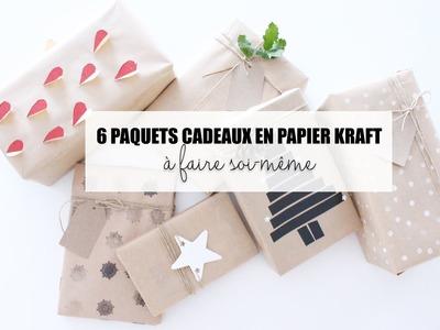 DIY. DES JOLIES PAQUETS EN PAPIER KRAFT (Vu sur Pinterest)