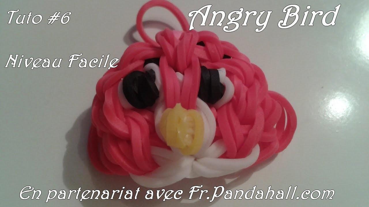 Tuto #6 Angry Bird en élastiques en français - Fr.Pandahall.com