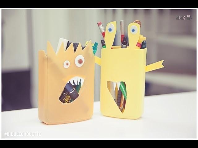 [DIY] Bidule Chouette #10 - Des pots à crayons en bouteille de shampooing