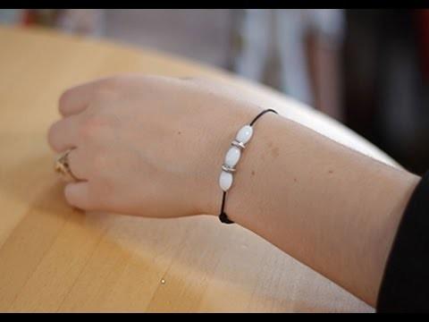 DIY Bracelet à noeud coulissant