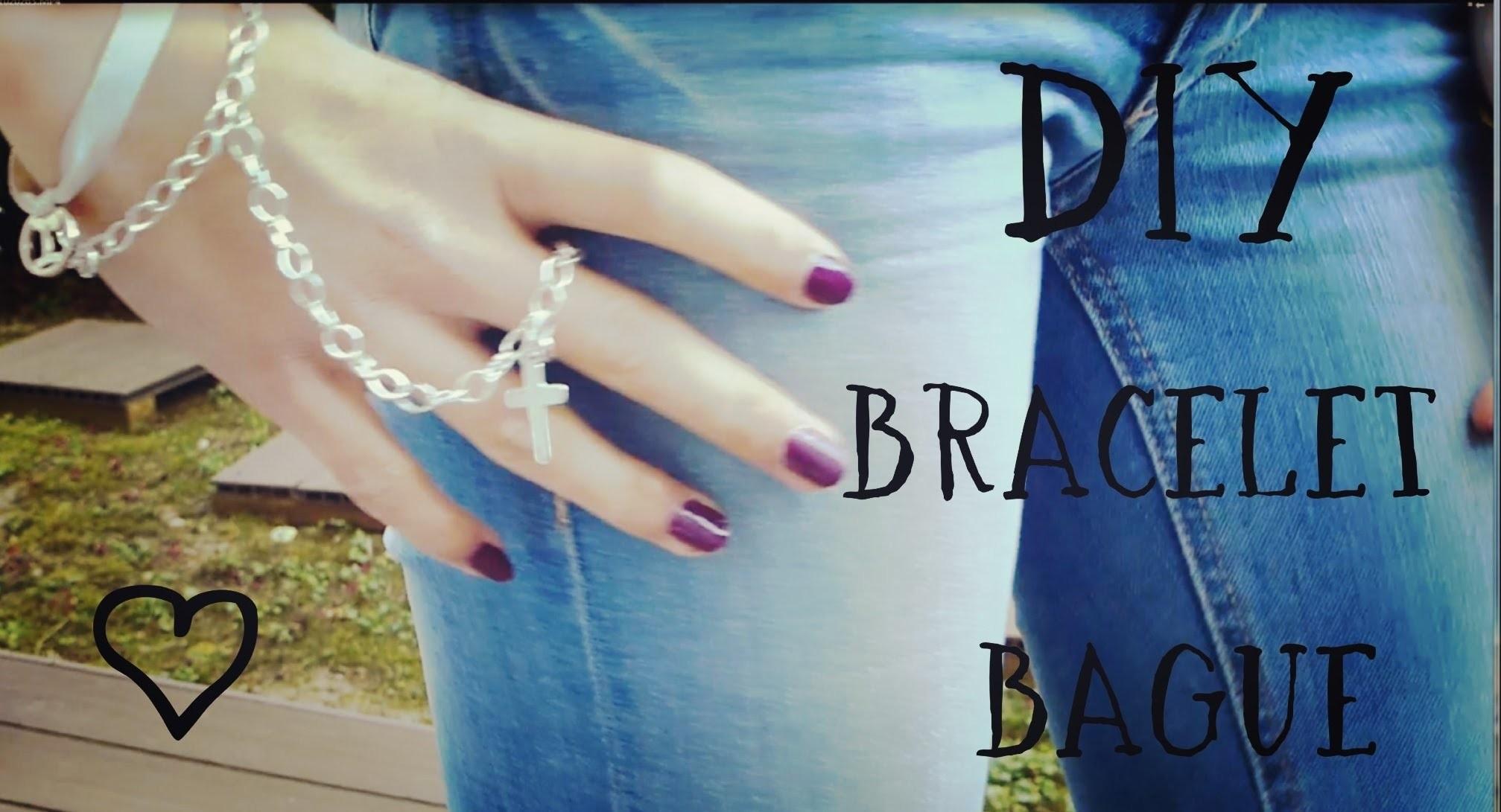 [DIY] Bracelet-Bague | Ring Bracelet with cross