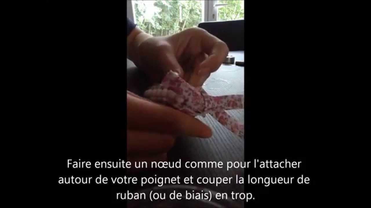 DIY bracelet perle avec ruban ou biais