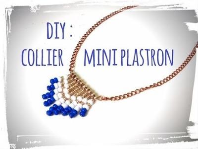 Diy collier mini plastron + concours !!!!!