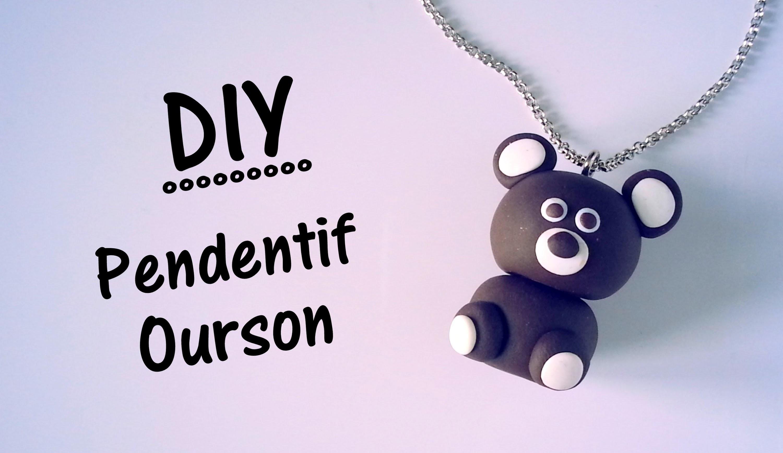 ♡ DIY Création pendentif ourson en pate FIMO