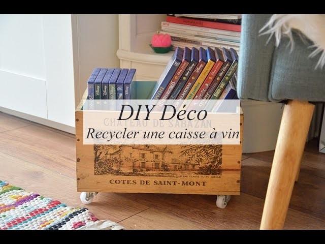 DIY déco : recycler une caisse à vin (rangement)