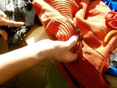 DIY.Mettre une nouvelle glissière ou chariot sur une fermeture éclair
