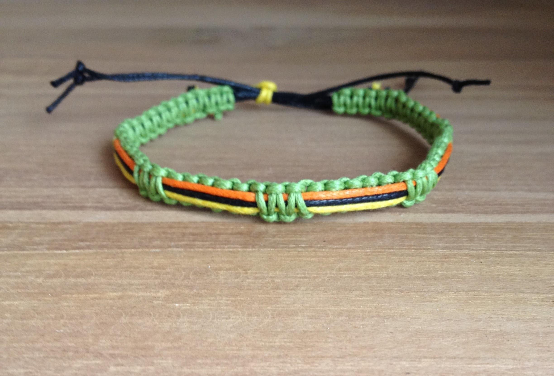 TUTORIEL - DIY Comment faire un bracelet Brésilien unisexe macramé 4 couleurs