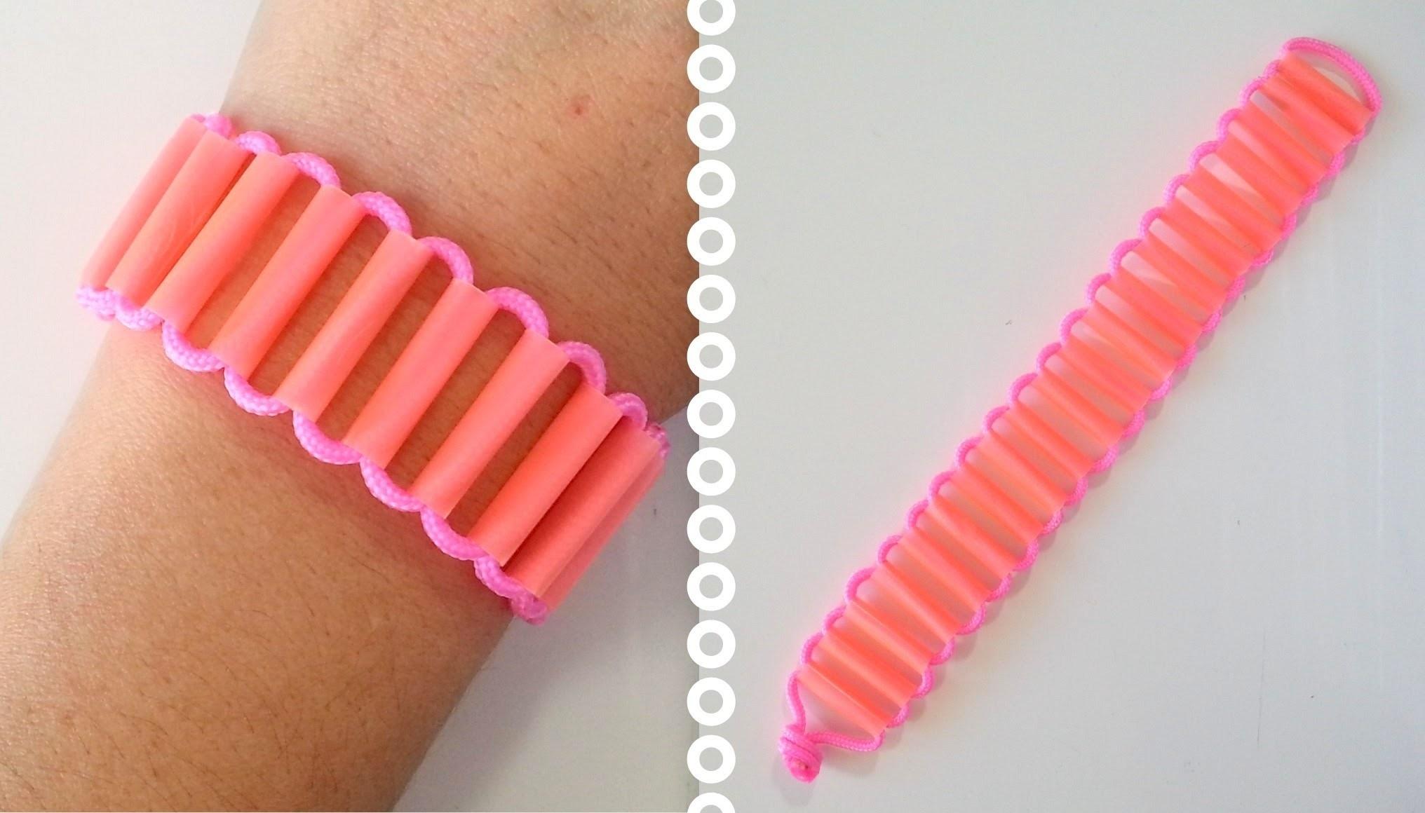 DIY Comment faire un bracelet avec des pailles paracord créacord