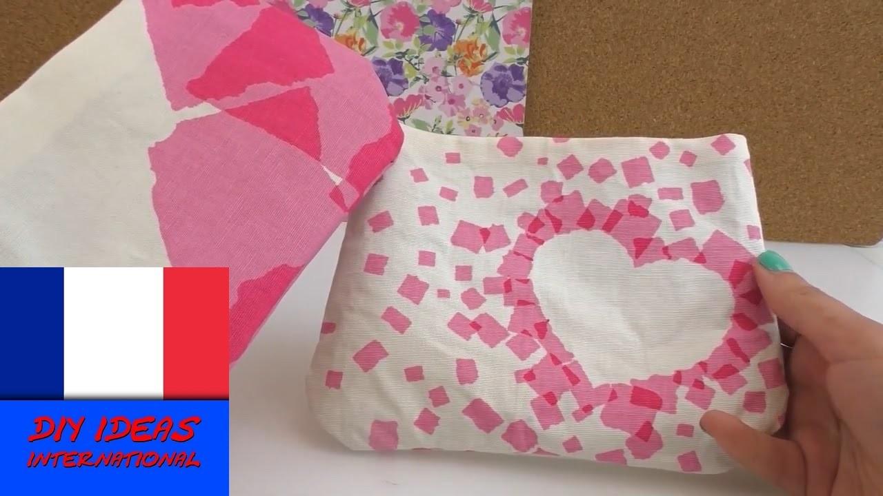 Faire soi-même une pochette en tissu et ruban adhésif. DIY. facile et pratique
