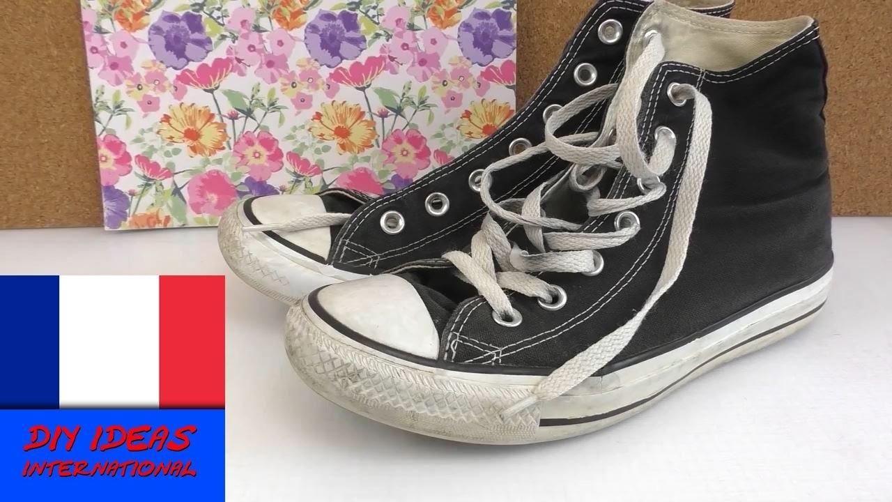 Rendre des converses usées comme neuves. restaurer des chaussures. DIY coup de jeune