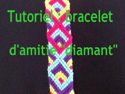 """Bracelet d'amitié """"Diamant"""" tutoriel.Diamond Friendship Bracelet tutorial"""