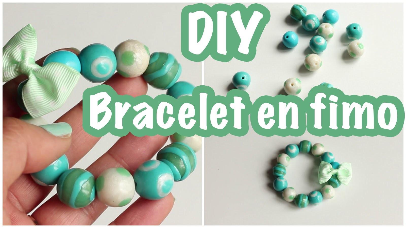 DIY # Bracelet en fimo - Idée fête des mères