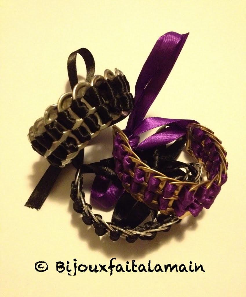 DIY Canettes: Comment faire un bracelet avec des attaches canettes.