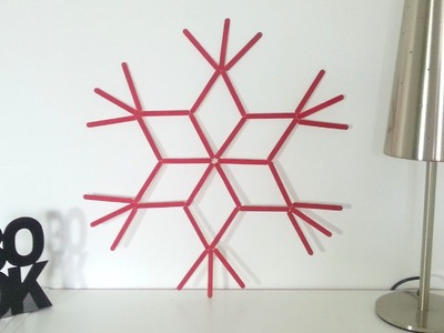 DIY Déco Noel Grande étoile murale avec bâtons de glace