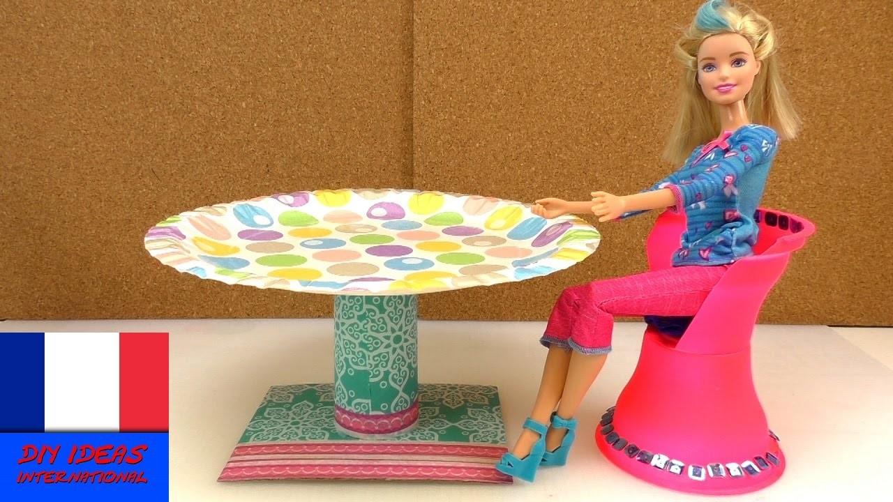 DIY Meubles français – Table ronde pour Barbie – Instruction pour la fabriquer soi-même