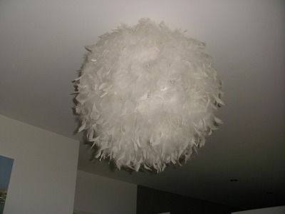 DIY : Suspension boule à plumes