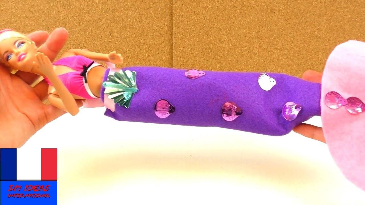 Transformer sa Barbie en sirène des mers. DIY accessoires et jouets