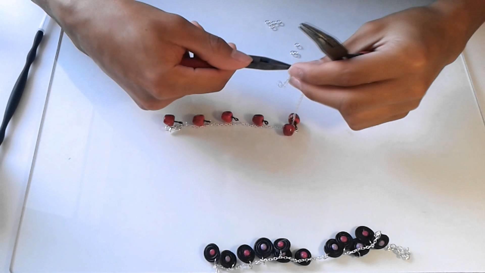Tuto bijoux: montage bracelet - jewelry tutorial: make bracelet