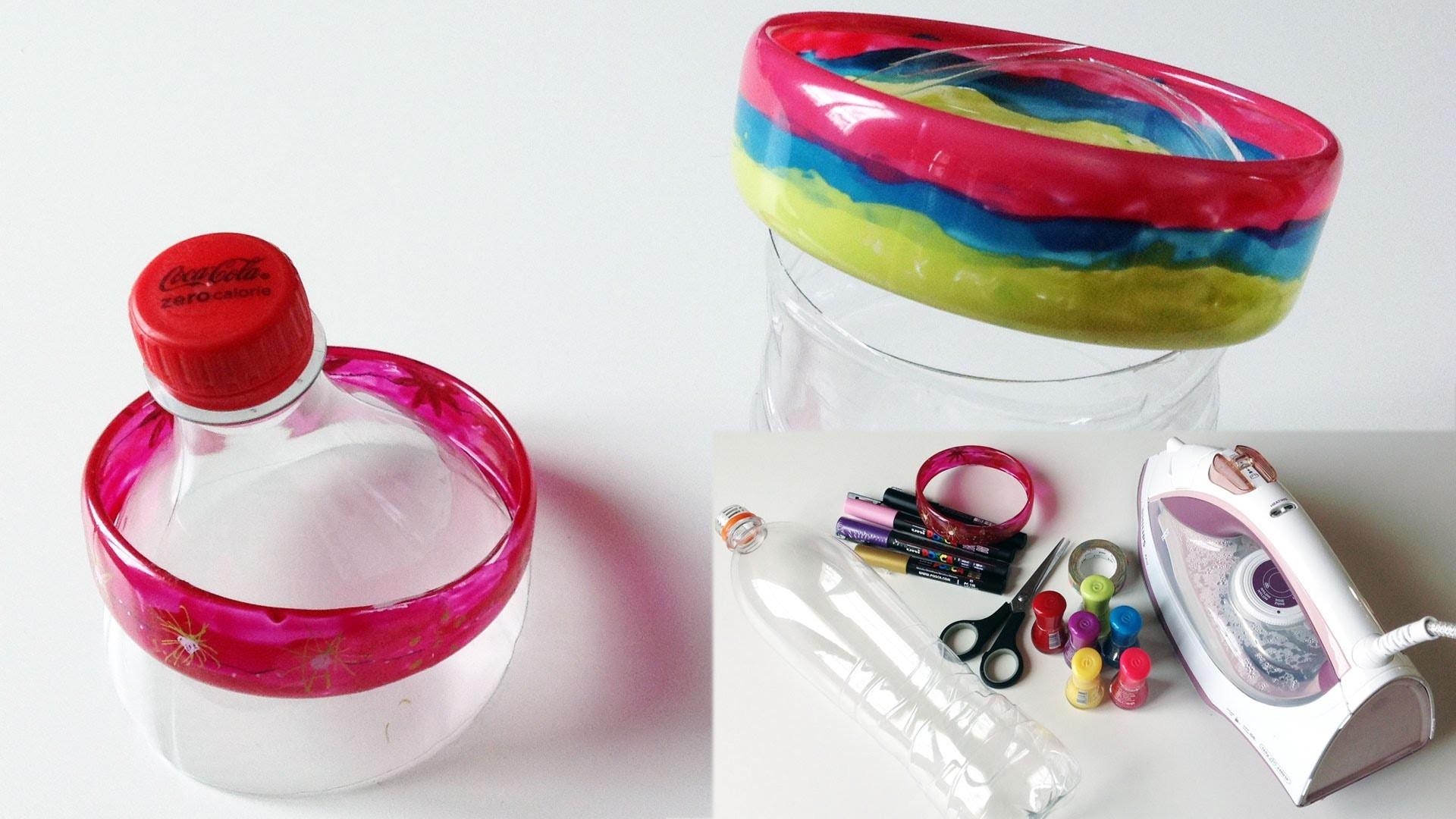 (TUTO DIY) fabriquer un bracelet avec une bouteille en plastique