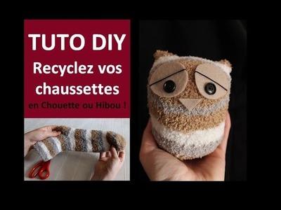Tuto DIY Recyclez vos Chaussettes en Chouette ou Hibou - Cécile Cloarec