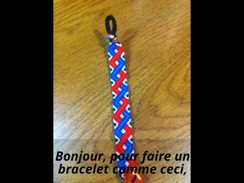 Tutoriel bracelet d'amitié.Friendship bracelet tutorial ♡Les zigzags entrecroisés♡