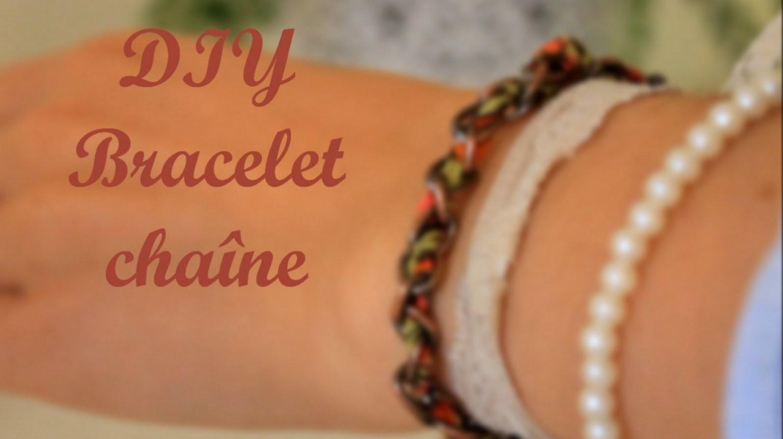 DIY - Bracelet chaîne