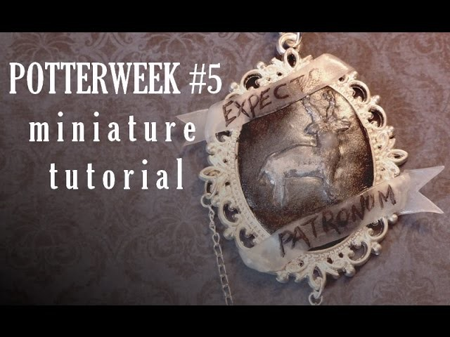 POTTER WEEK YWC #5 Harry's Patronus polymer clay tutorial