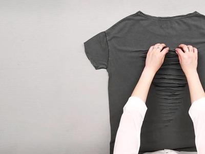 T-SHIRT ROCK DIY - PERSONNALISEZ VOTRE DRESSING !