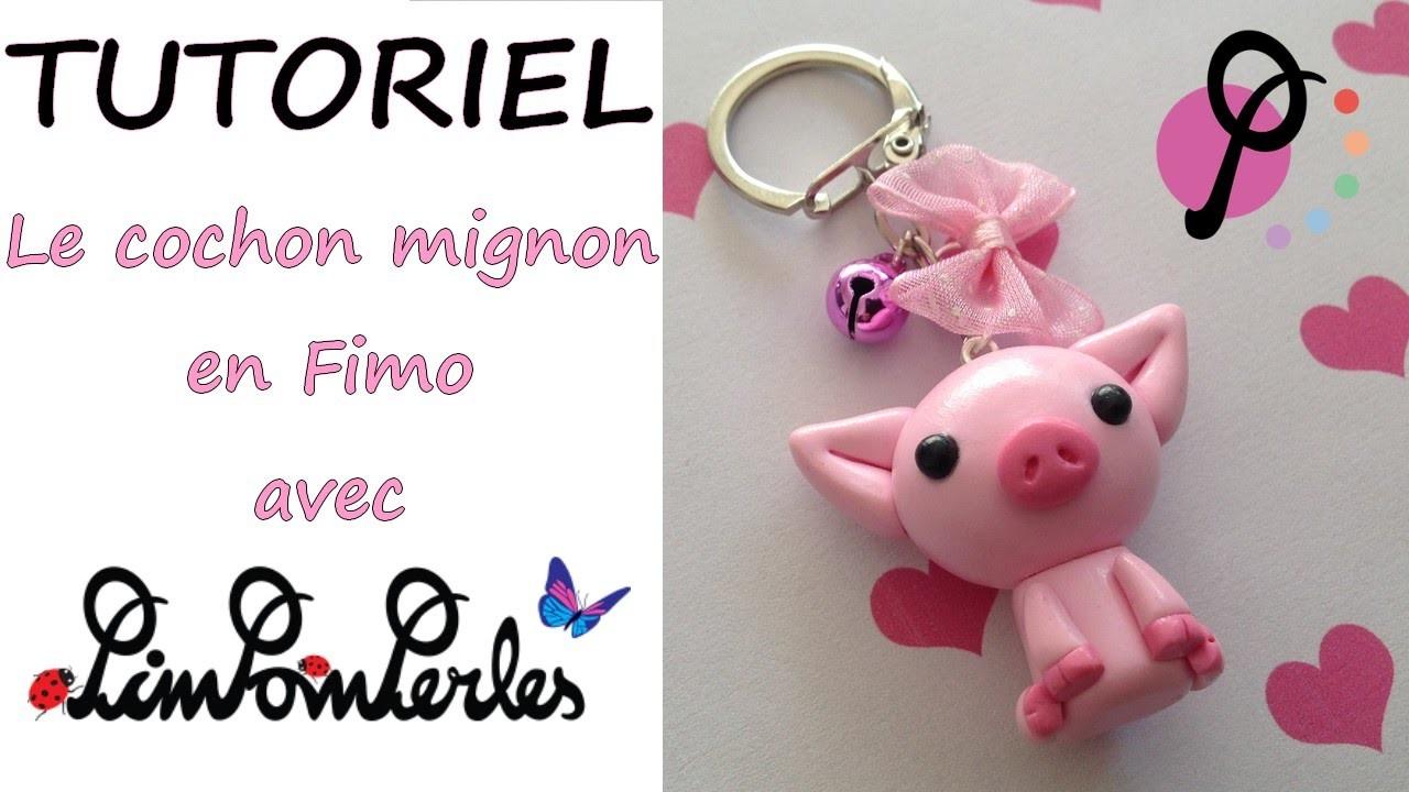 Tutoriel Fimo - Le cochon mignon avec Pimpomperles.fr. Polymer Clay Tutorial - Cute pig
