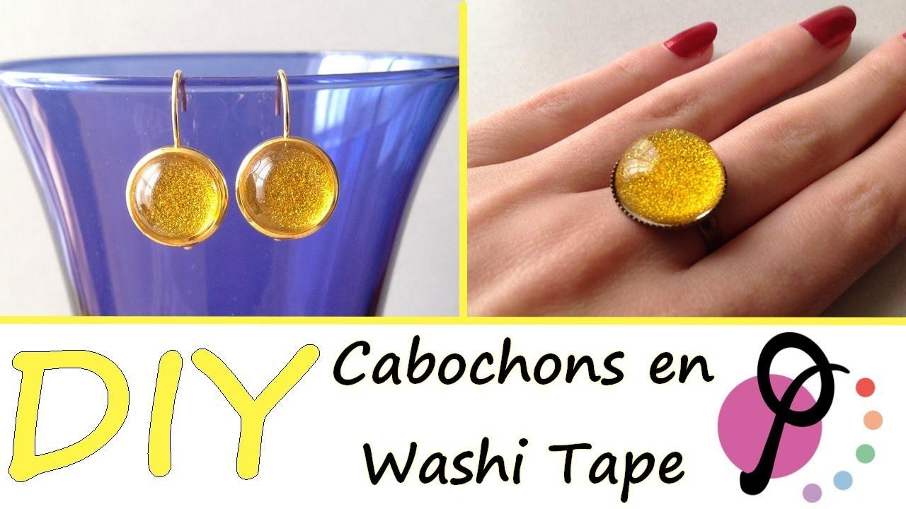 DIY #4 - Facile et rapide : Comment réaliser des cabochons avec du Washi Tape [PimPomPerles.fr]