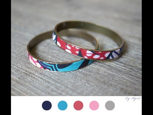 DIY Bracelet En Tissu Wax Africain