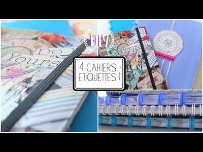 DIY - 4 CAHIERS + ÉTIQUETTES | BTS 2015!
